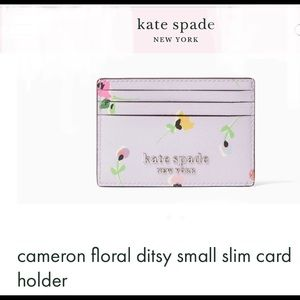🆕NWT Kate Spade floral Ditsy smallslim cardholder